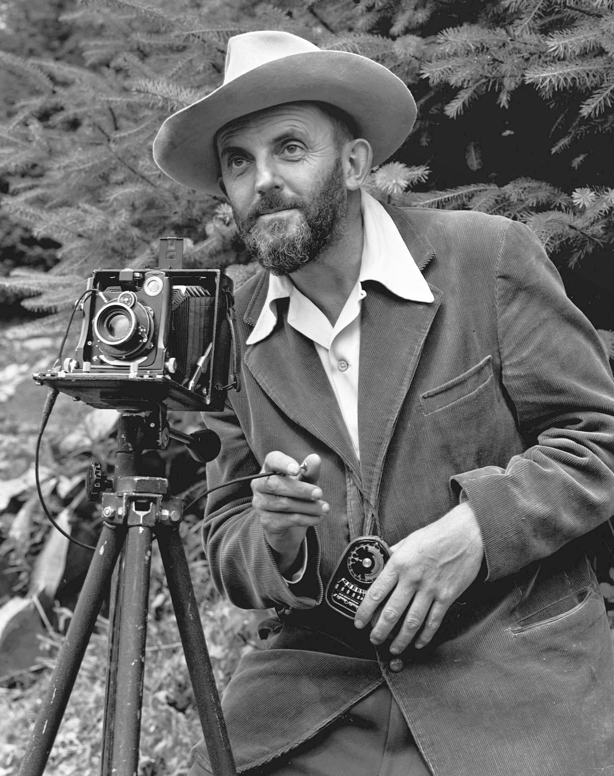 Ansel Adams et son appareil photo