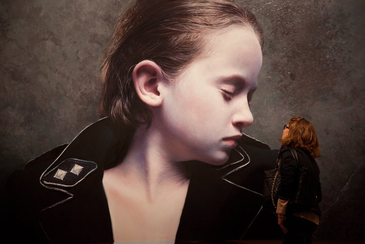 Gottfried-Helnwein-The-Murmur-of-the-Innocents-25-oil-acrylic-on-canvas-2011-200-x-342cm