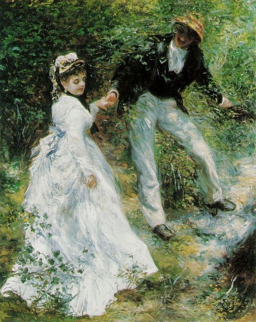 La promenade - Renoir, 1870