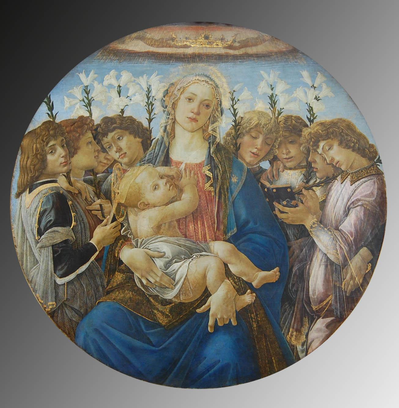 La Vierge à l'Enfant avec un concert d'anges, Botticelli