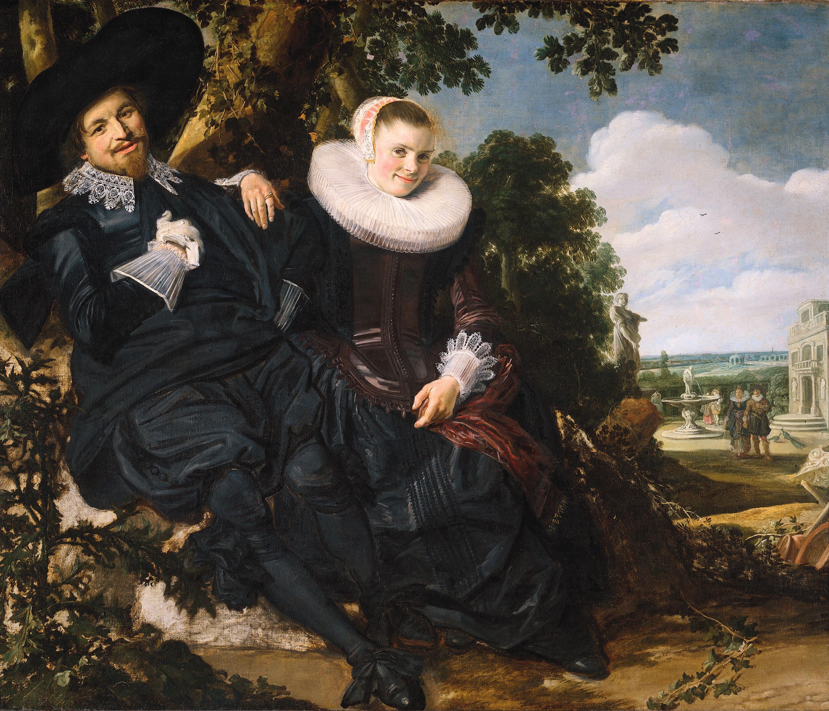 Portrait d'Isaac Massa et de Beatrix van der Laen - Frans Hals, vers 1622.