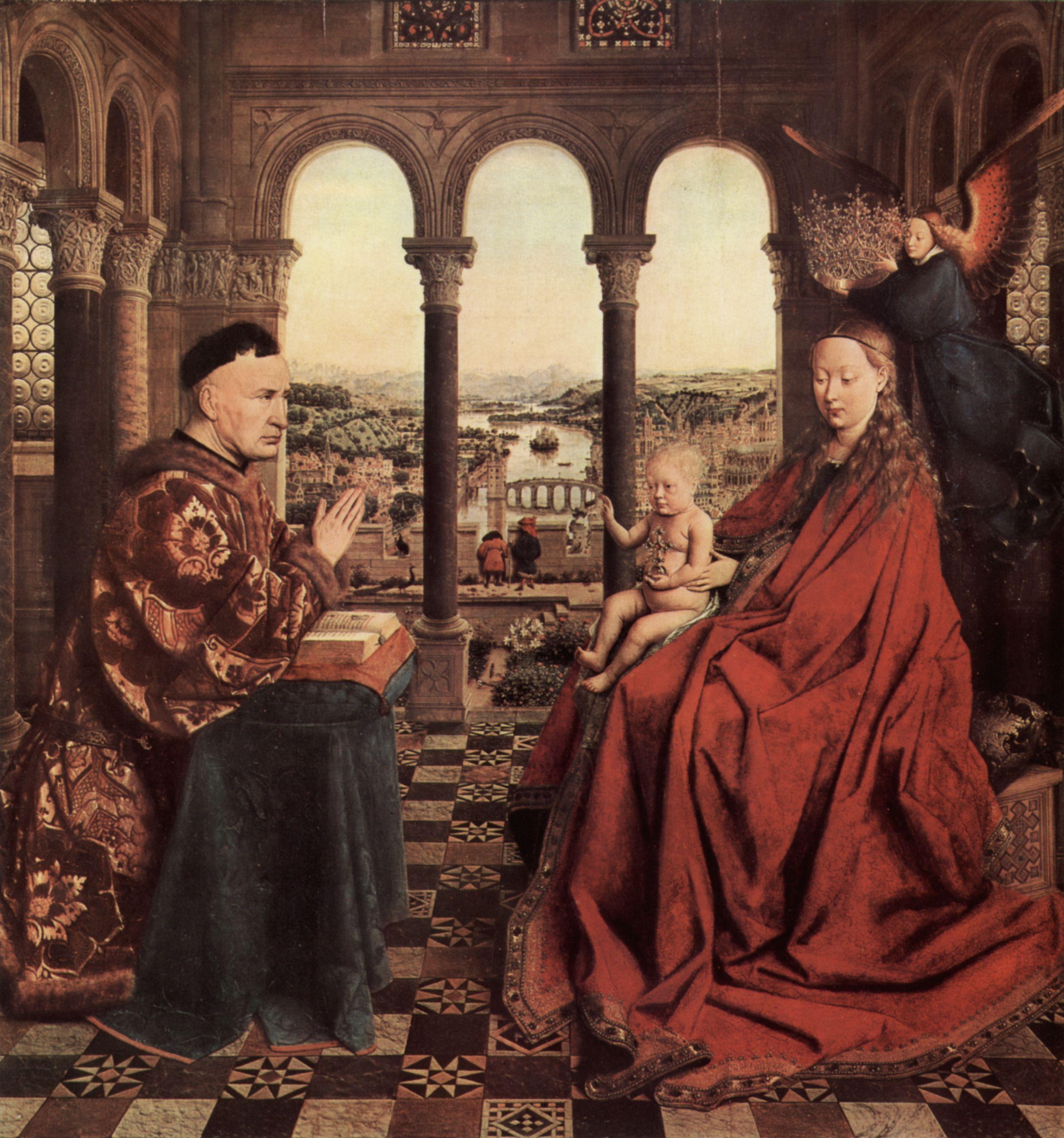 La vierge au Chancelier Rolin - Jan Van Eyck, 1434