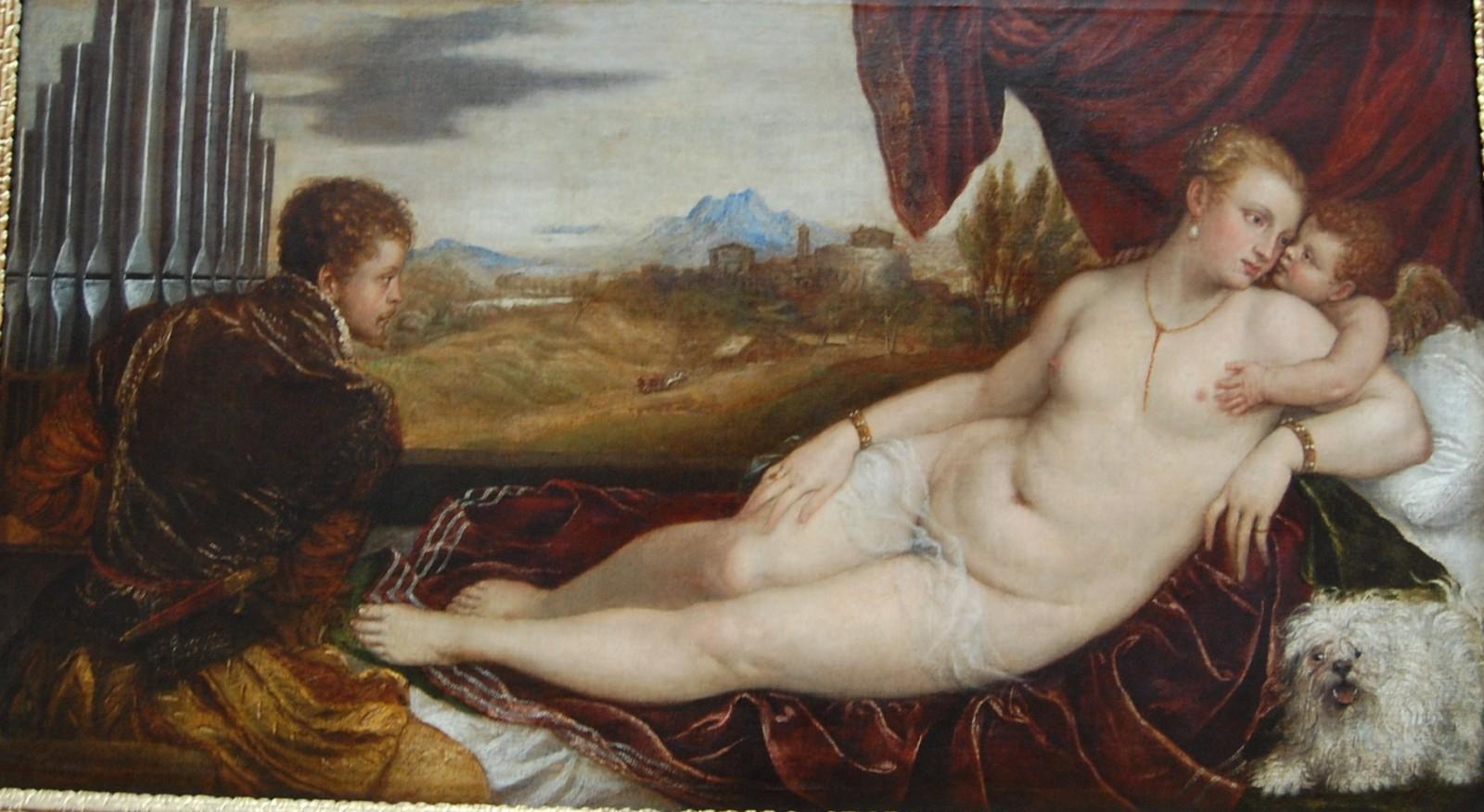 Vénus et l'organiste - Titien, 1548