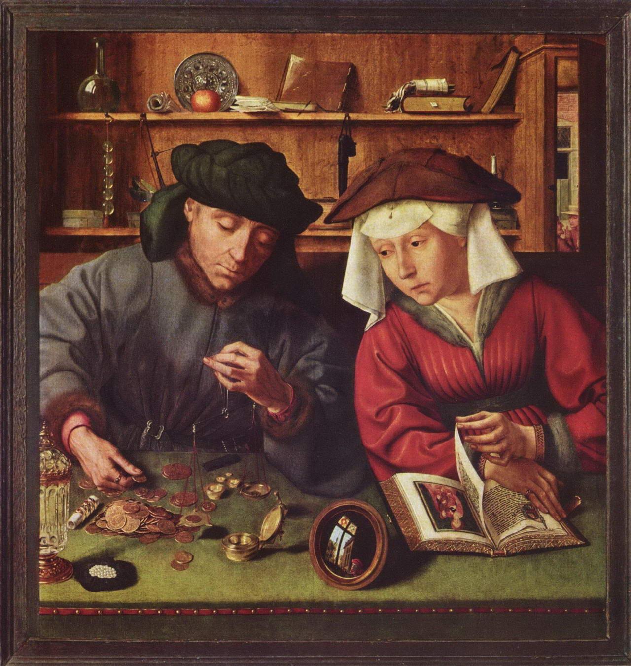 Le prêteur et sa femme – Quentin Metsys, 1514