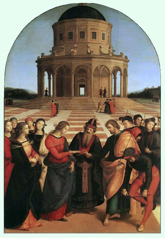 Le Mariage de la Vierge - Raphaël, 1504.