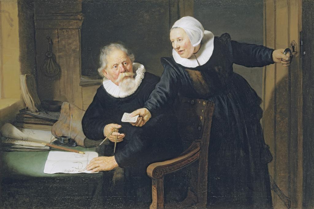 Jan Rikcjsen et son épouse Griet Jans dit Le constructeur de bateau - Rembrandt, 1633