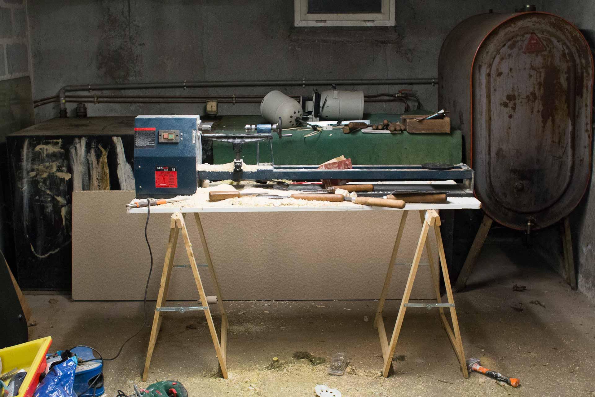 Installation de mon tour à bois