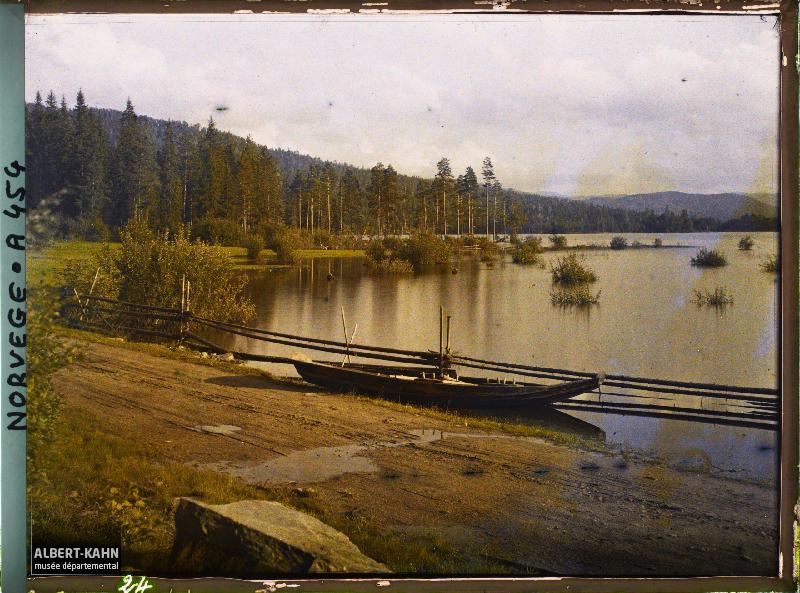 , De Kongsberg à Notodden, Norvège, 2 septembre 1910, (Autochrome, 9 x 12 cm), Auguste Léon, Département des Hauts-de-Seine, musée Albert-Kahn, Archives de la Planète, A 454