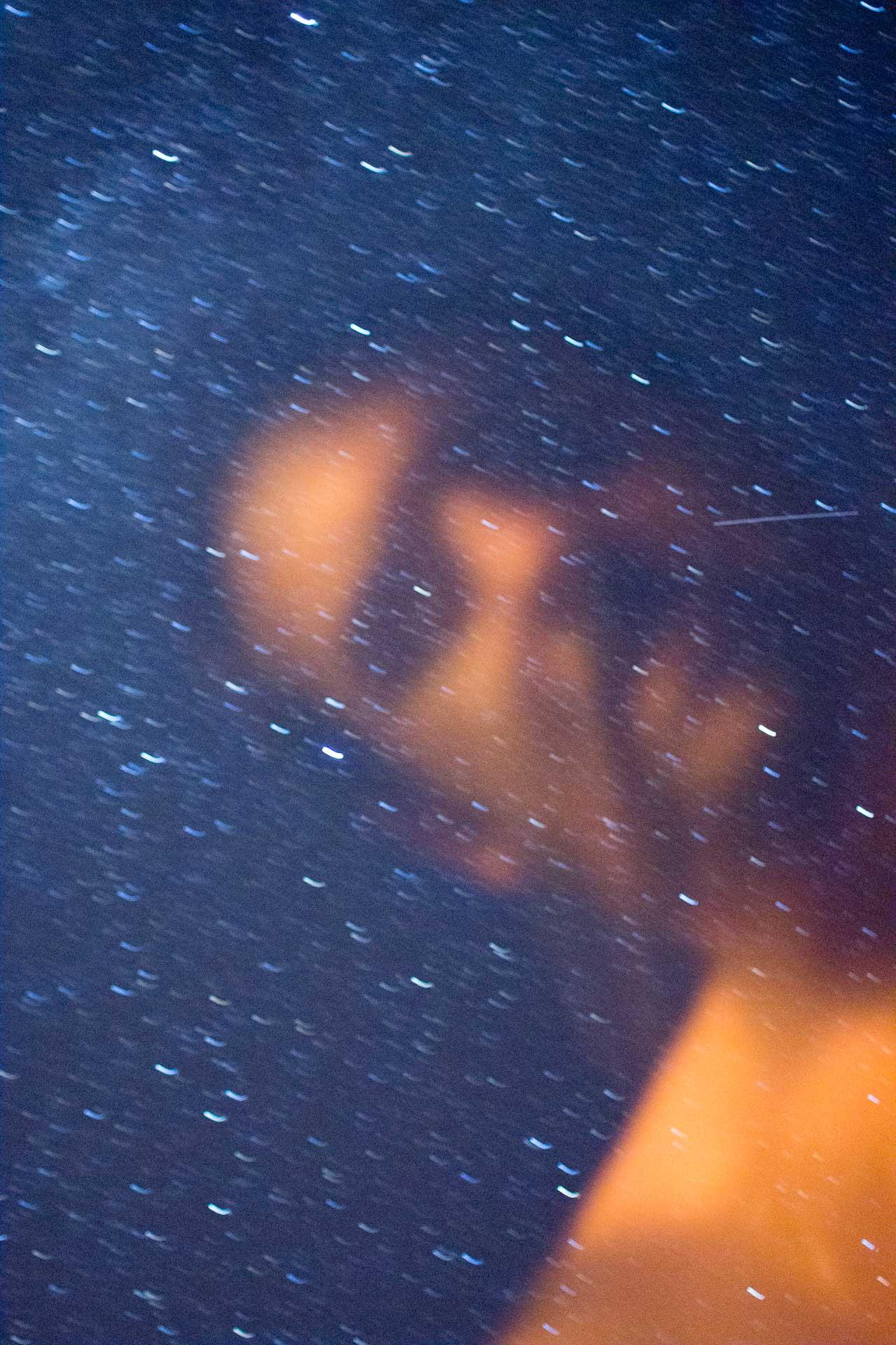 Et pour finir, un autoportrait raté, parce que c'est ça d'avoir la tête dans les étoiles...